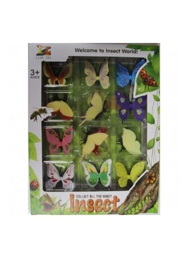 hasoyuncak Hasoyuncak 12'Li Paket Renkli Kelebekler Hayvan Kutulu Eğitici Oyuncak Seti Renkli
